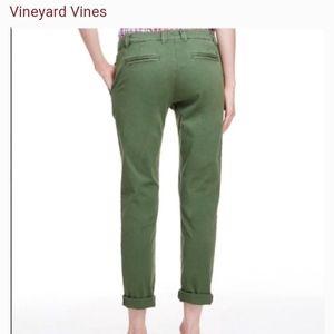 VINEYARD VINES green straight leg chino pants 00